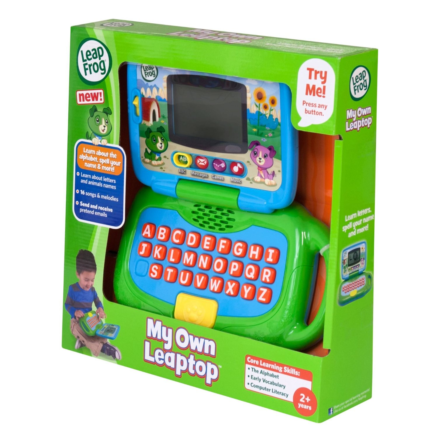Computer Learning Toys : Leapfrog own my laptop green learning toy