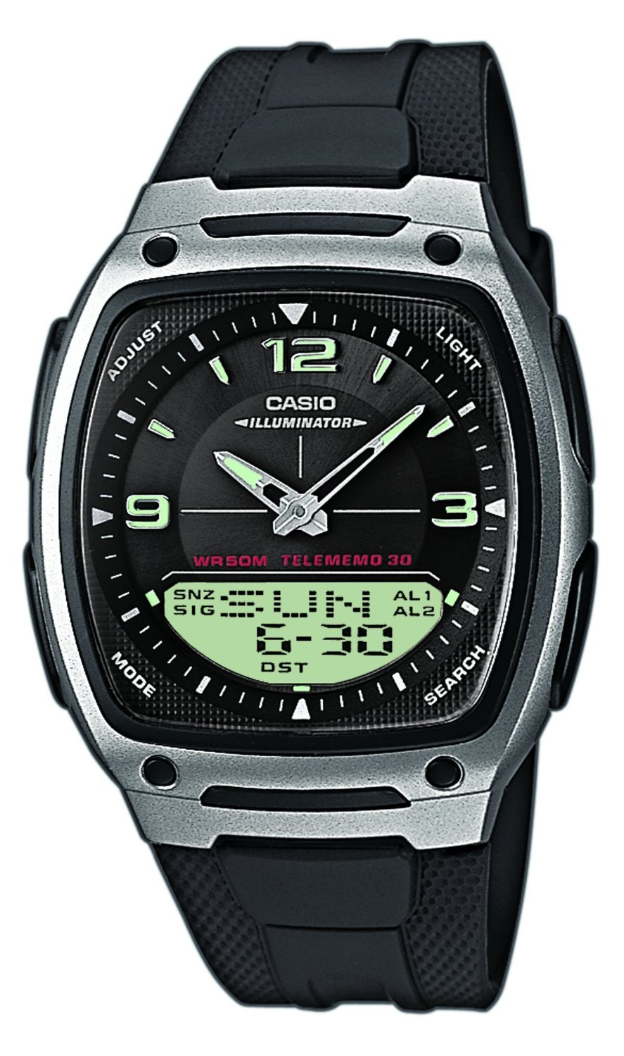 Casio Gents AW-81-1A1VES World Time Databank Combi Watch Brand NEW