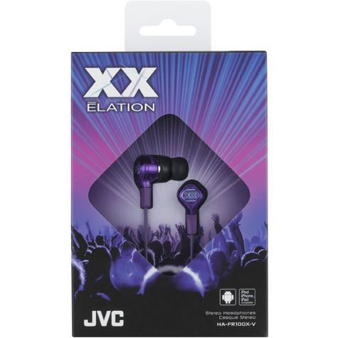 JVC Elation Series XX Club in-ear Headphones with Remote & Mic HA-FR100X Purple Thumbnail 2