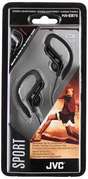 JVC Sports Running Jogging Gym Ear Clip Earphones Black iPhone iPod MP3 HAEB75B Thumbnail 3
