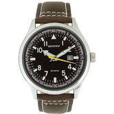 Sekonda Gent's Classic Leather Buckle Strap Aviator Style Watch 3882