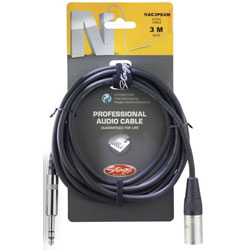 Stagg Professional Audio Cable Phone Plug- XLR 3M Music