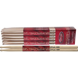 Stagg Pair of Maple Drum Sticks - Wood Tip 5A Music