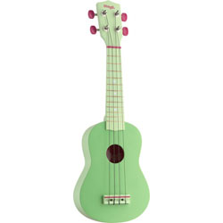 Stagg Soprano Ukulele with Carry Case - Green Music