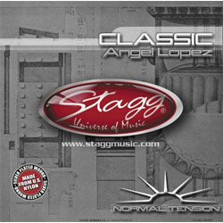Stagg Nylon/Silver Plated Wound Set of Strings for Classical Guitar Music