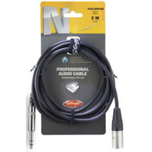 Stagg Professional Audio Cable Phone Plug- XLR 3M Music Thumbnail 1