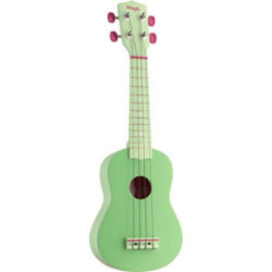 Stagg Soprano Ukulele with Carry Case - Green Music Thumbnail 1