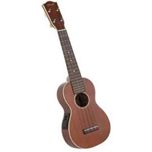 Stagg Electro-Acoustic Soprano Ukulele - Mahogany Music Thumbnail 1