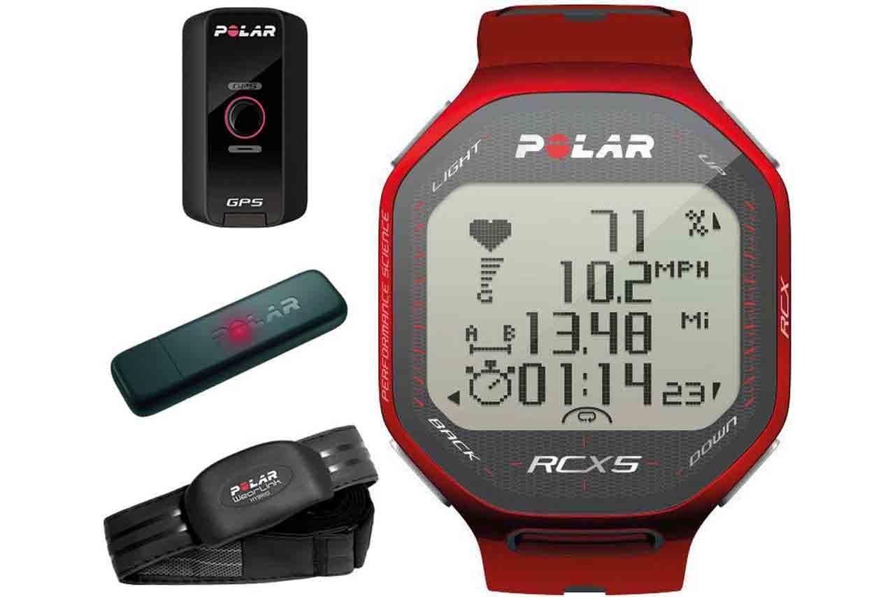 Polar RCX5 RED GPS Edition HRM Heart Rate + Speed & Distance Watch 90042075 | Sustuu