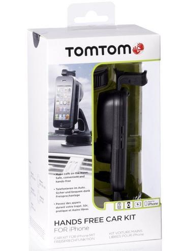 TomTom Apple iPhone 4S 4 3GS 3G Bluetooth Handsfree Car Kit Holder Mount Speaker Thumbnail 2