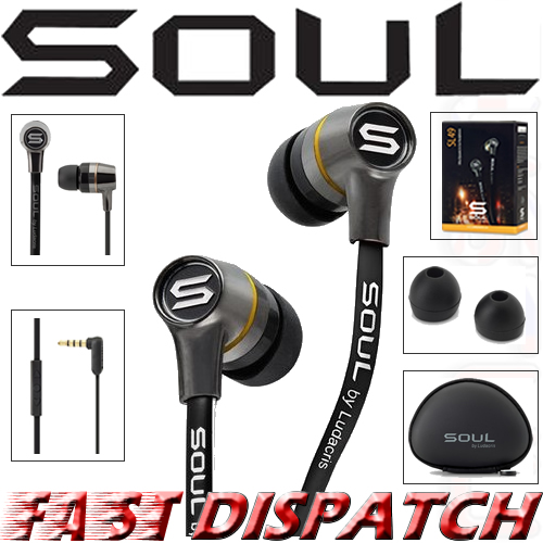 Soul by Ludicris SL49 In-Ear Headphones & iPhone Remote Control 4S 4 3GS iPad