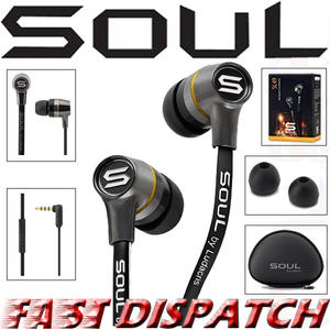 Soul by Ludicris SL49 In-Ear Headphones & iPhone Remote Control 4S 4 3GS iPad Thumbnail 1