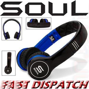 Soul by Ludicris SL100UB Ultra Dynamic On-Ear Headphones Black Blue Brand New Thumbnail 1