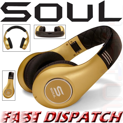Soul by Ludicris SL300GG High-Definition Noise Cancelling On-Ear Headphones Gold