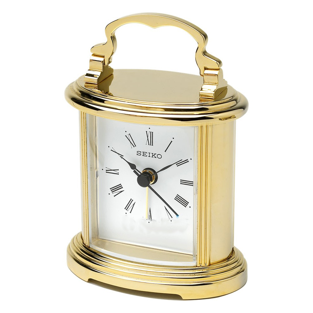 Seiko Gold Mantel Clock QHE109G