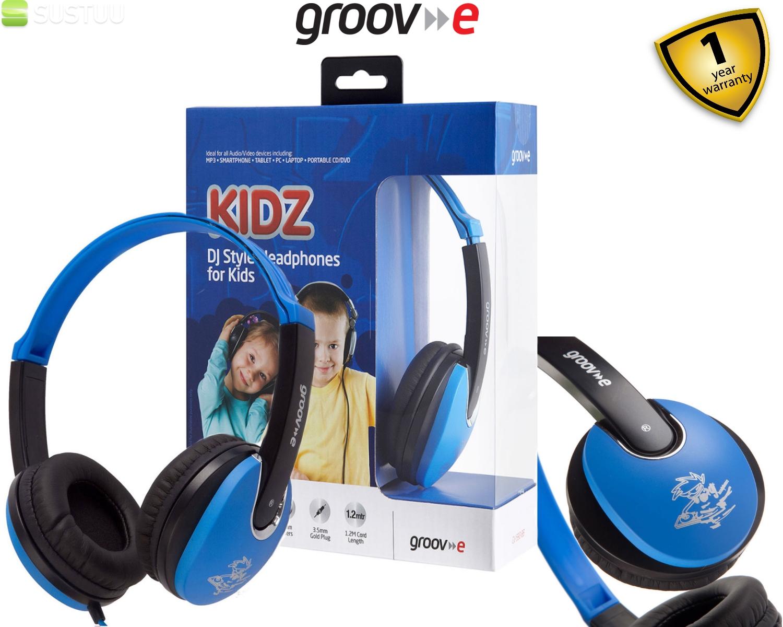 Groov-e Kidz DJ Style Headphone - Blue/Black GV590BB