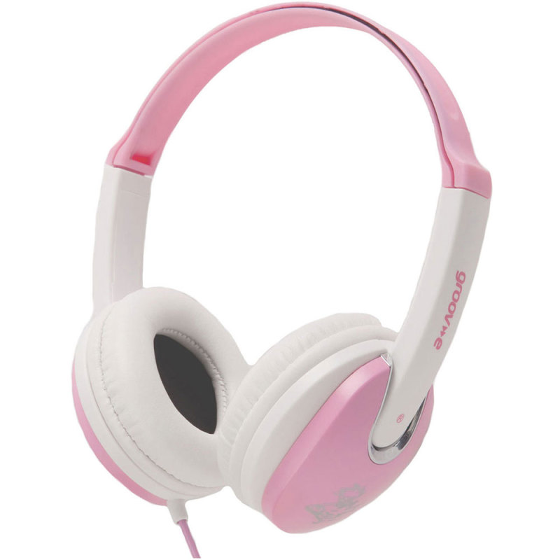 Groov-e Kidz DJ Style Headphone - Pink/White GV590PW