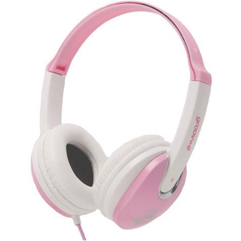 Groov-e Kidz DJ Style Headphone - Pink/White GV590PW Thumbnail 1