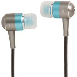 Groov-e Metal Buds Stereo Earphones - Silver/Blue GVEBMBE