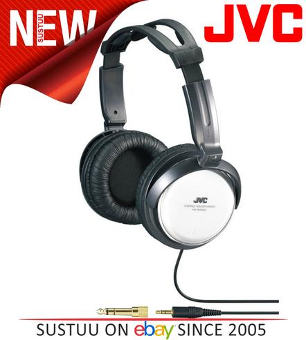 JVC HA-RX500 Silver Full Size High Quality Extra Bass Stereo Overhead Headphones Thumbnail 1