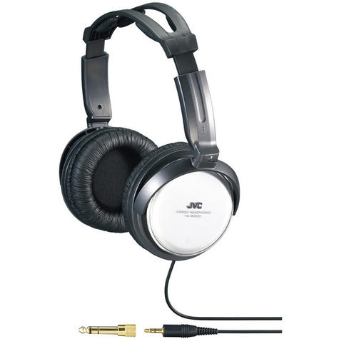 JVC HA-RX500 Silver Full Size High Quality Extra Bass Stereo Overhead Headphones Thumbnail 2
