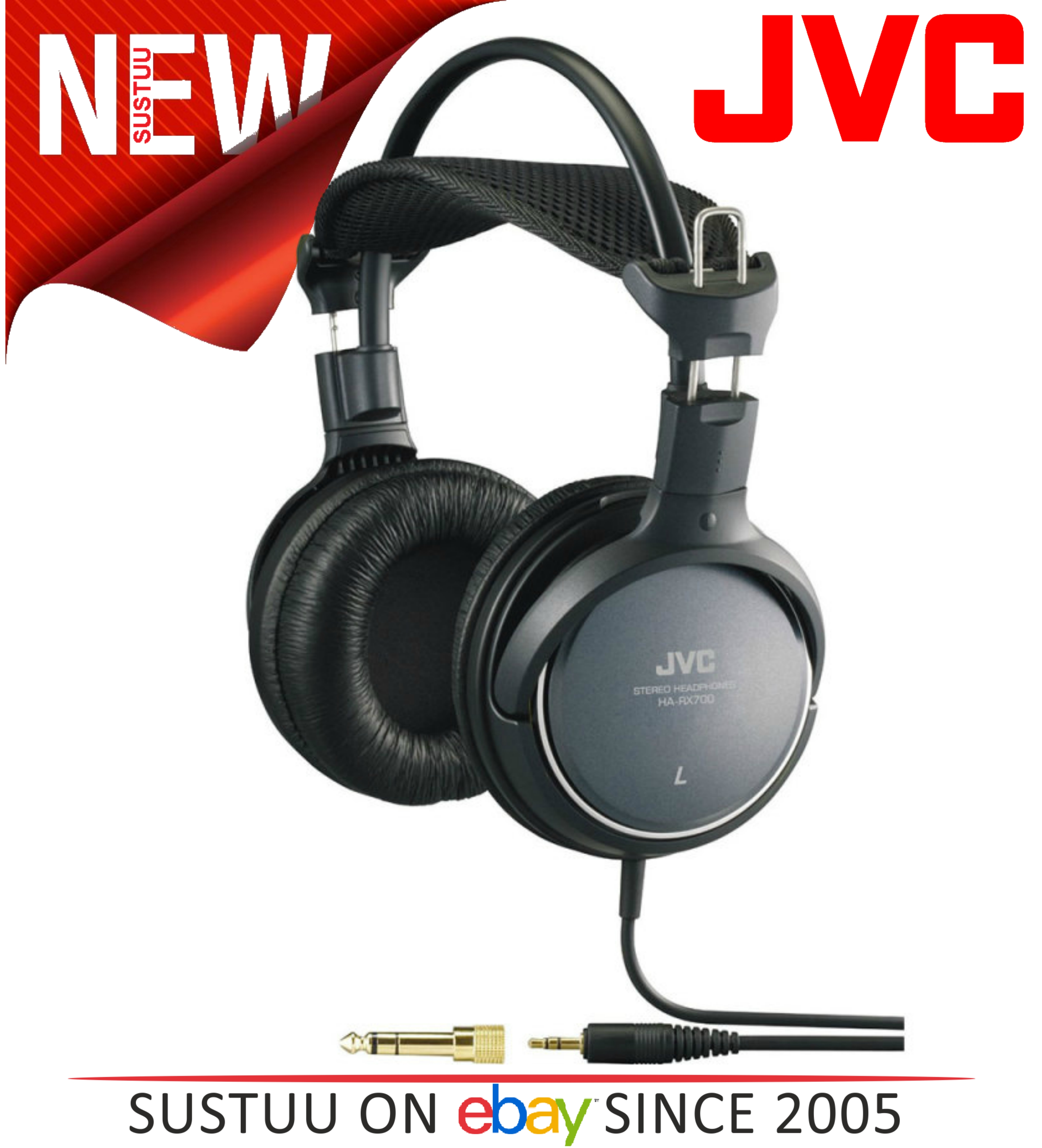JVC HARX700 Over-Ear Extra Bass Stereo Headphones for iPhone iPod MP3 & Android