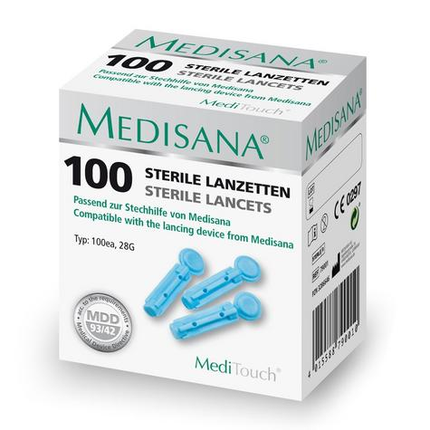 Medisana Sterile Lancets for MediTouch Lancing Device 100 Pack Pcs Brand New Thumbnail 1