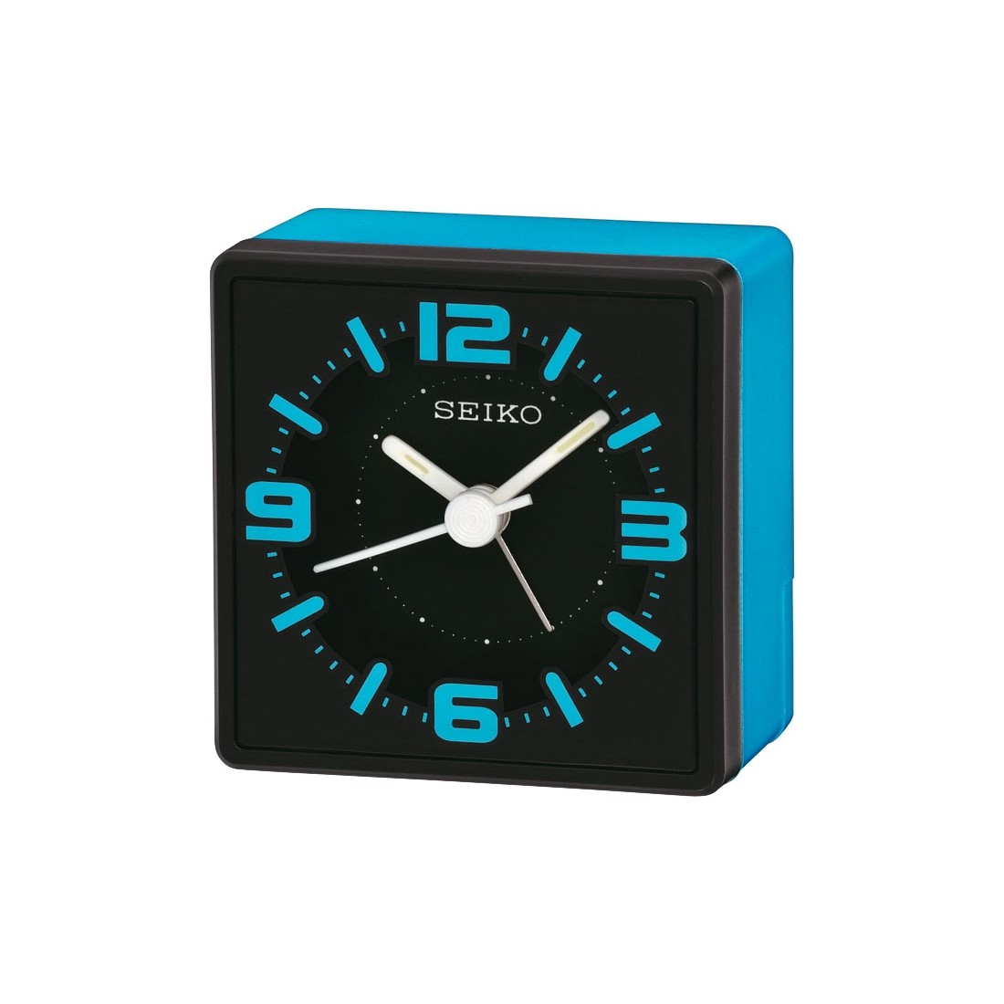 Seiko Analogue Bedside Alarm Clock - Blue QHE091L