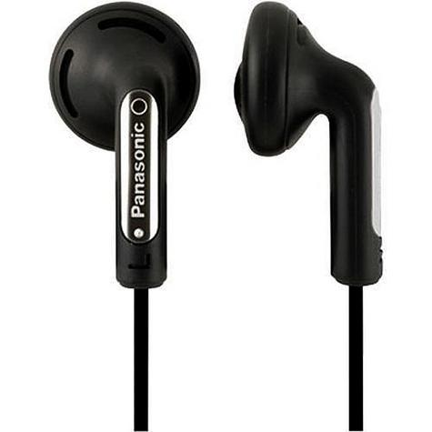 Panasonic Stereo Earphones for iPhone, Smart Phone, MP3 Player RP-HV094 Black Thumbnail 1