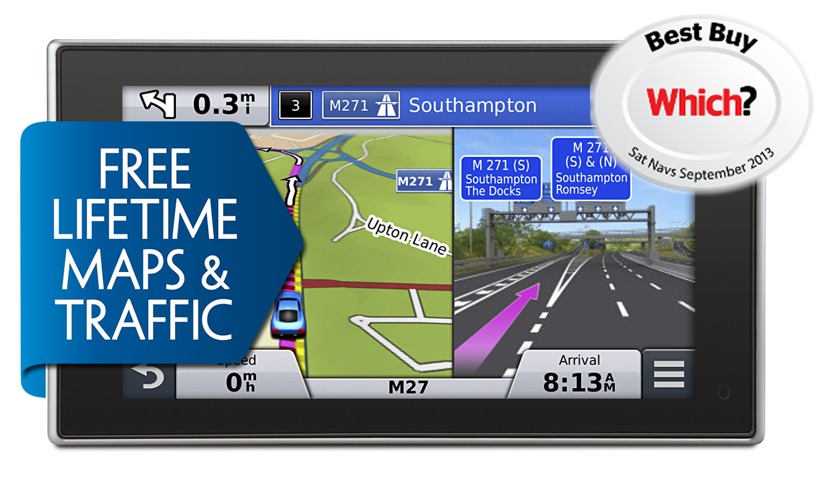 Garmin Nuvi 3597lmt Gps Satnav Uk Europe Maps Free