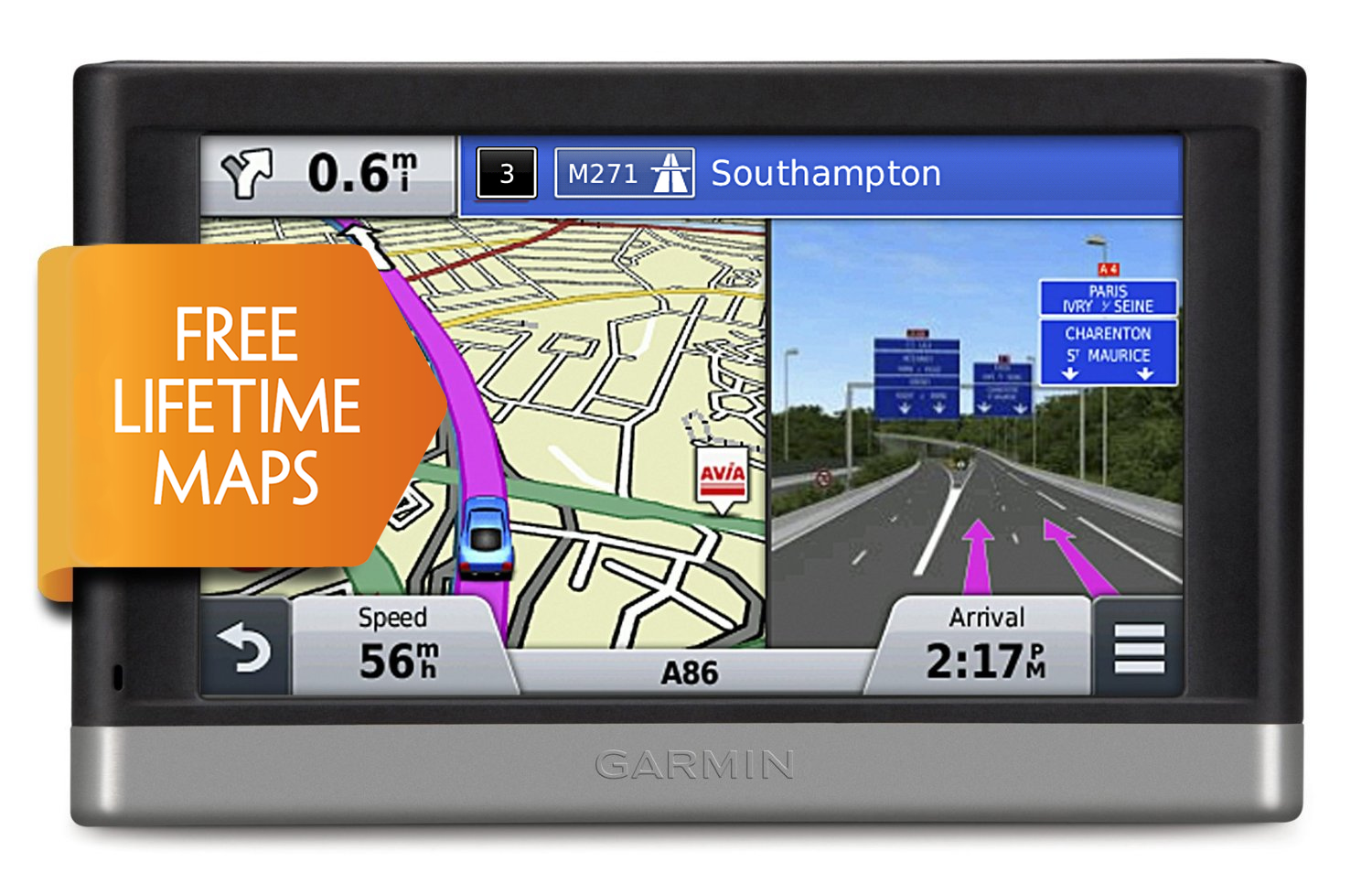 Garmin Nuvi 2497LM GPS SATNAV UK Europe FREE LIFETIME Map Updates + Bluetooth