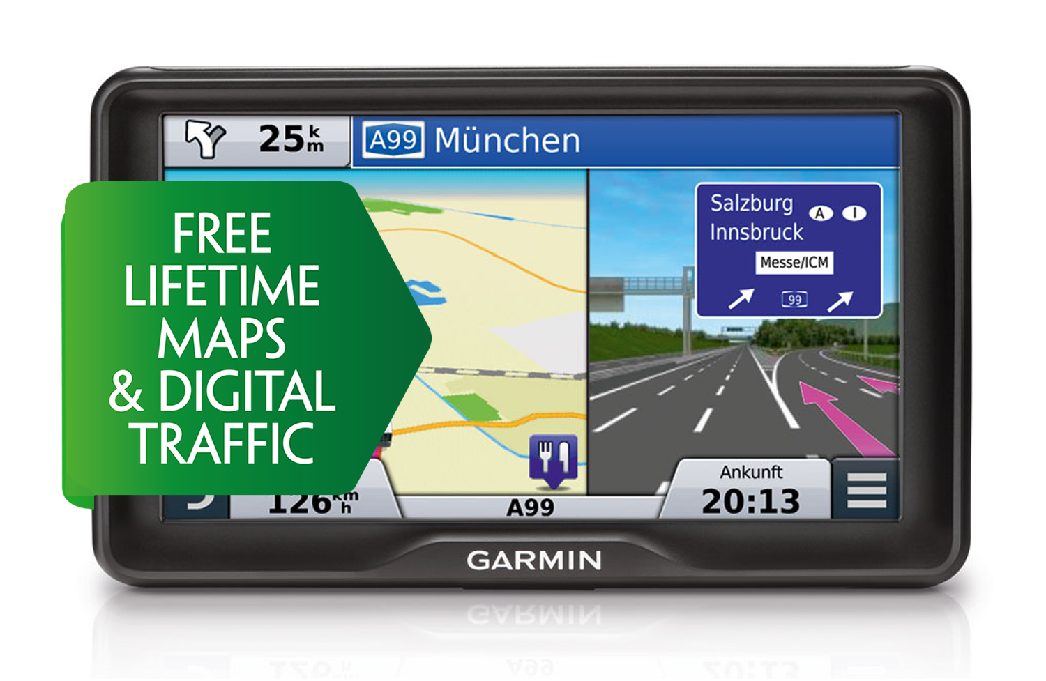 Garmin Camper 760LMT-D Motorhome & Caravan GPS Lifetime Maps & Digital Traffic