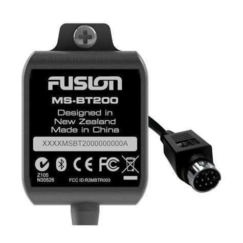 Fusion BT200 IP65 Marine Bluetooth Receiver Control Phone / RA205 / 700 Series Thumbnail 2