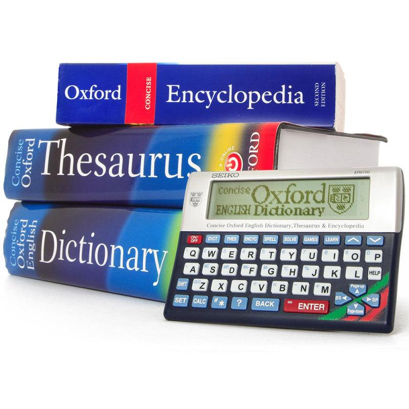 Seiko Concise Oxford Dictionary, Thesaurus & Encyclopedia ER6700