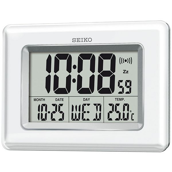 Seiko Digital Large Lcd Display Desktop Wallmount Clock