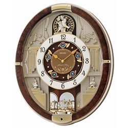 seiko analogue melodies in motion wall clock 12 melodies