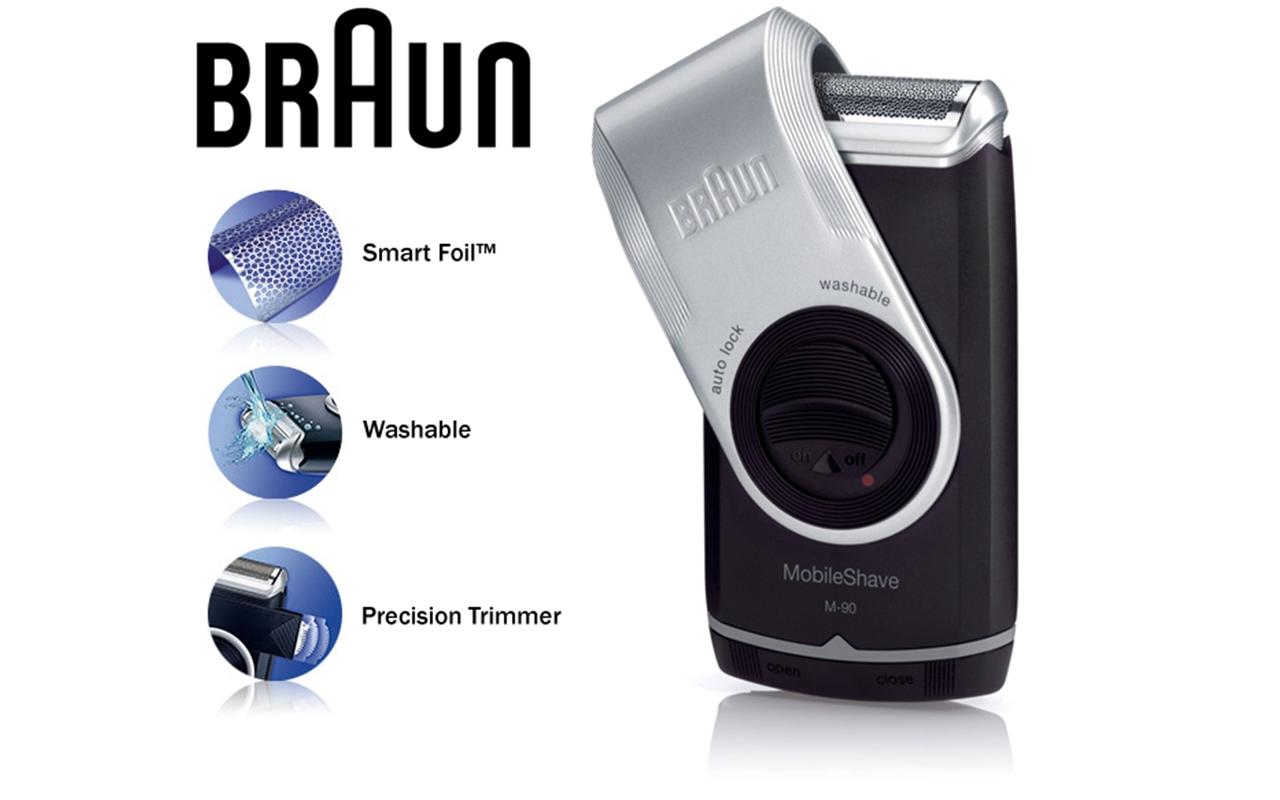 Braun M90 Mobile Mini Portable Travel Shaver Precision Trimmer Electric Razor