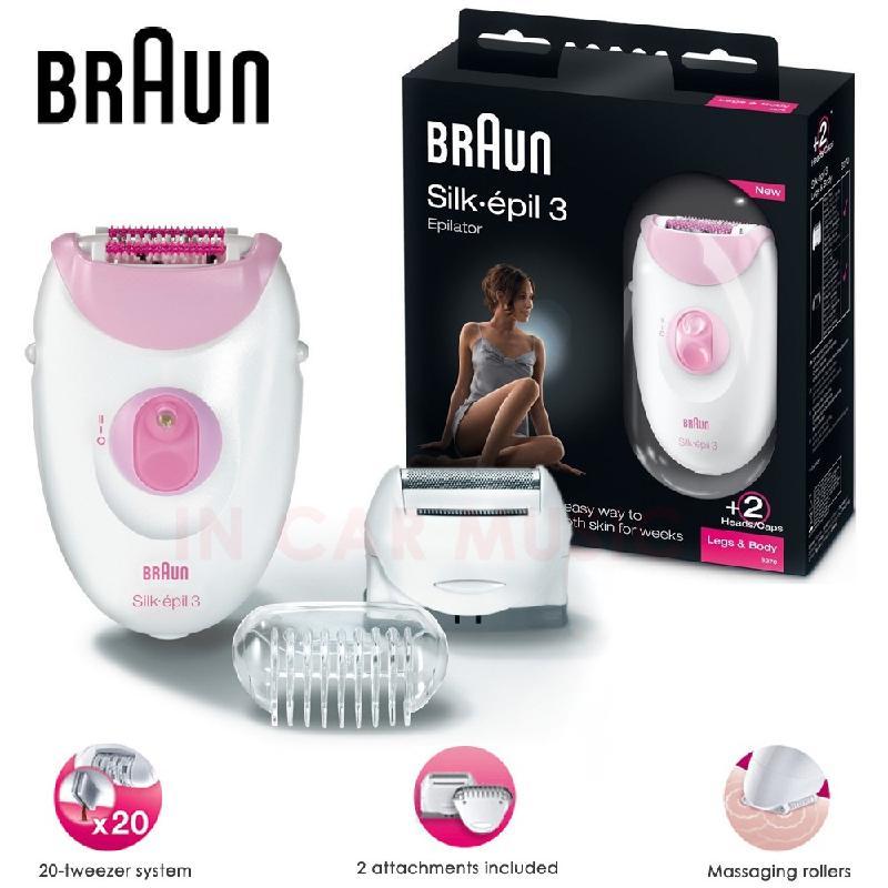 Braun Silk-Epil 3 Leg & Body Epilator & Shaver Ladies Hair Remover