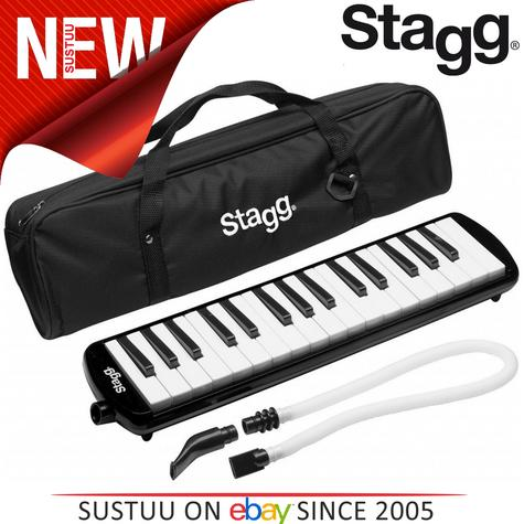 Stagg Melodica Black Music Reed 32 Keys Mouthpiece Piano Keyboard  - MELOSTA32BK Thumbnail 1