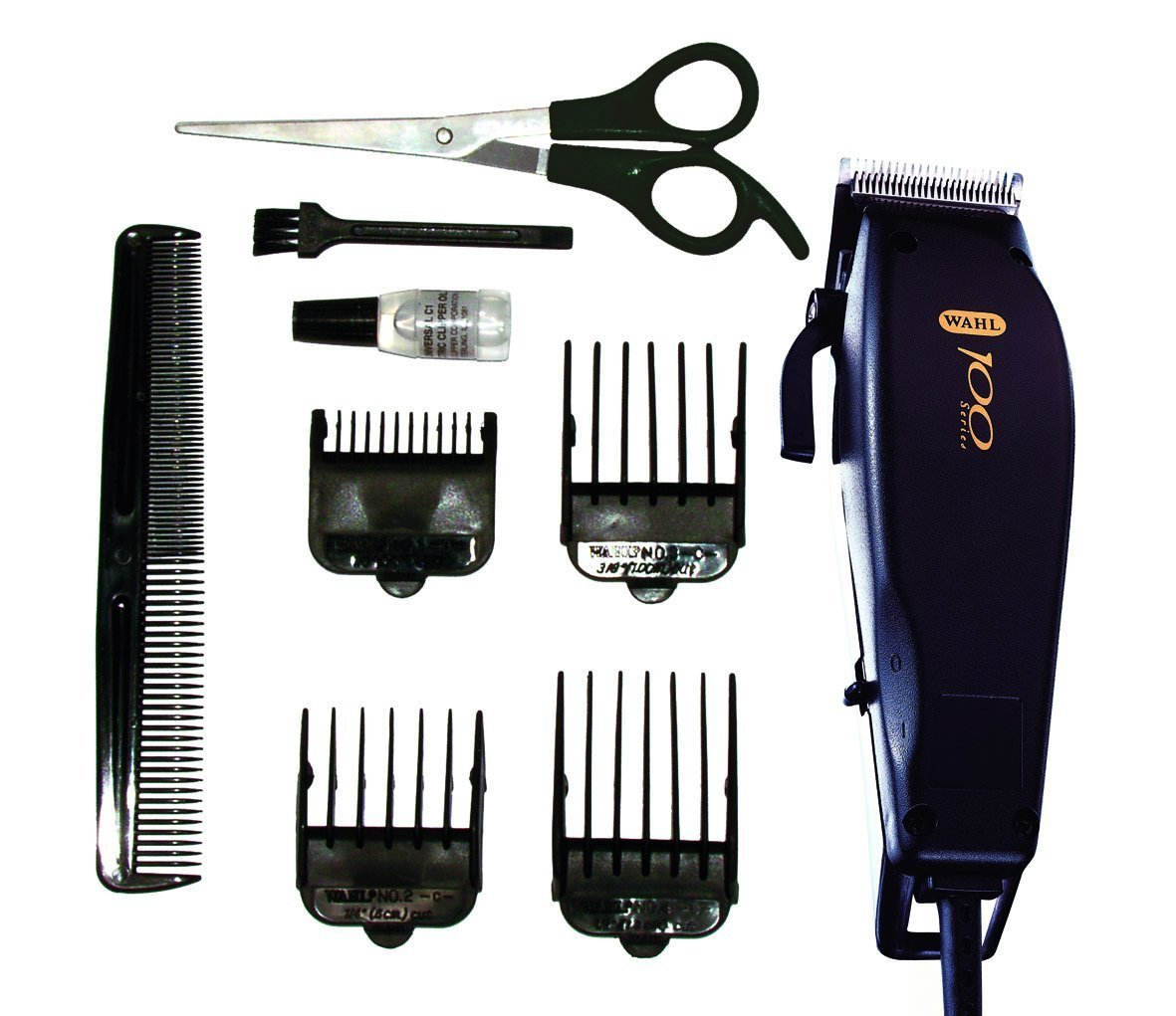 Wahl 100 Mains Electric Hair Trimmer Kit Clipper Set Mens Gent Boys Haircutting
