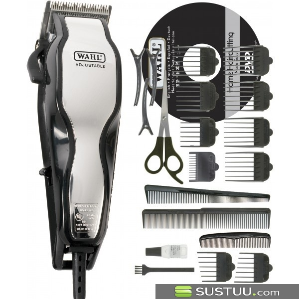 Wahl 79524-800 Chrome Pro Full Complete Home Hair Cutting Clipper Trimmer Set
