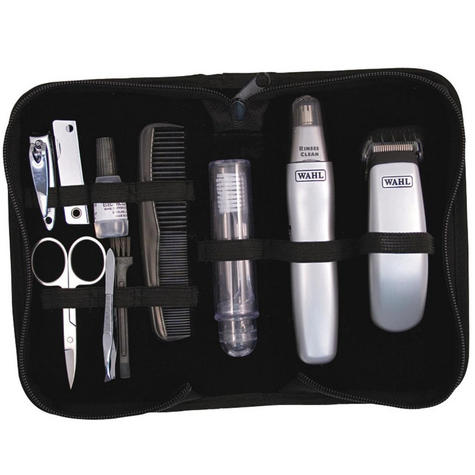 Wahl Travel Grooming Kit Trimmer Nose Ear Hair Nail Clipper & Pouch 9962-1417  Thumbnail 1