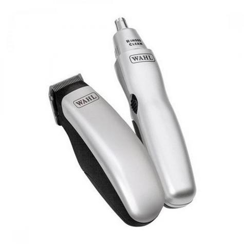 Wahl Travel Grooming Kit Trimmer Nose Ear Hair Nail Clipper & Pouch 9962-1417  Thumbnail 3
