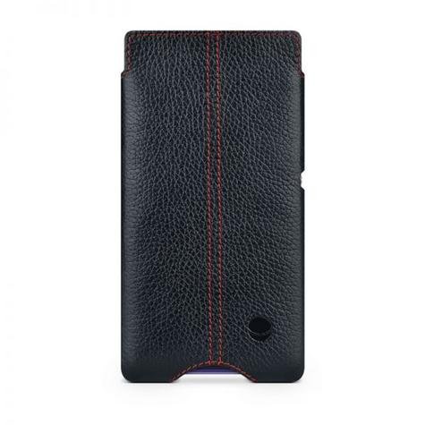 Beyzacases Zero Case for Sony Xperia E1 in Black Genuine Leather Worlds Thinnest Thumbnail 3