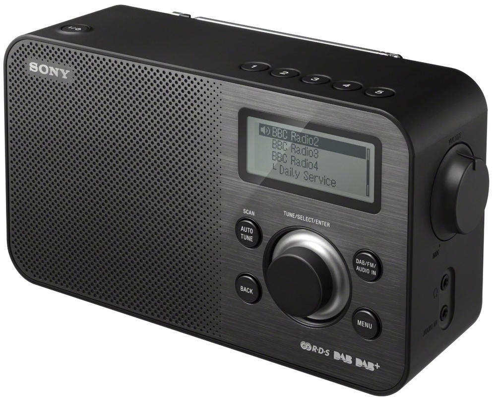 sony sony dab fm tuner portable radio radio xdr s60dbp blk. Black Bedroom Furniture Sets. Home Design Ideas