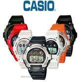 Casio Colour Series Digital Illuminator W-214HC Perpetual Calendar Sports Watch
