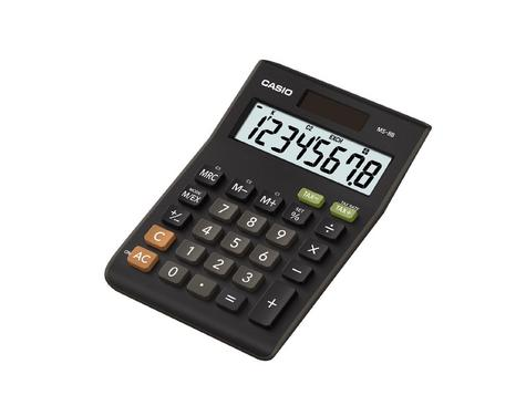 Casio MS8B Large 8 Digit Multi Function Tax VAT Desk Calculator Dual Solar Power Thumbnail 1