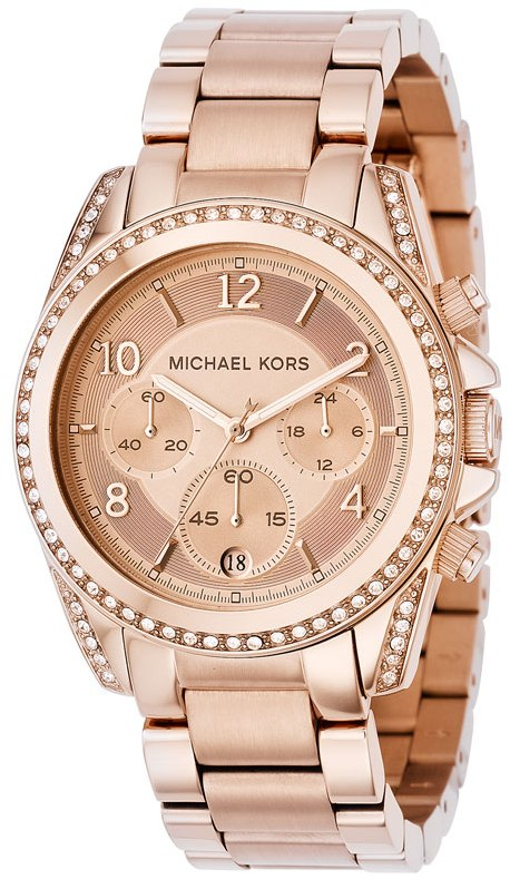 michael kors blair ladies rose gold chronograph designer. Black Bedroom Furniture Sets. Home Design Ideas