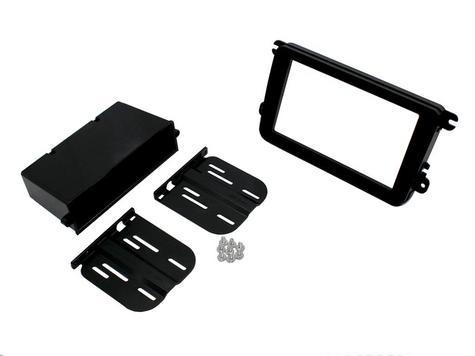 Genuine C2 24VW09 Double Din fascia Adapter Kit(Black)Pocket & Brackets NEW Thumbnail 2