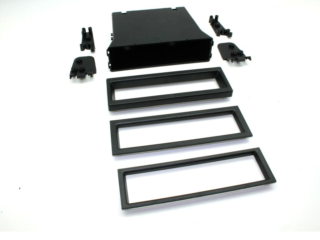 C2 24UV17/FP006 Universal Din Facia Plate(Black)Pocket Set With 3 Trim Sizes NEW